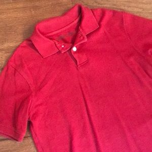 Red polo style shirt